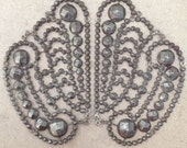 Cut steel butterfly / wings applique