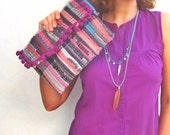 Pom Pom Envelope Clutch. Boho Chic Kilim Purse. Colorful Womens Gift. Hippie Bag. Kourelou Bohemian Clutch Bag. Gift for Her. Festival Wear