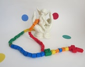 Reserved for Michelle - Lego Rosary -  Two Colorful Rainbow Children Catholic Rosary made of Lego Bricks