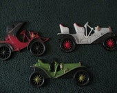 Vintage Midwest Products Co Cast Metal Antique Cars Wall Plaques---Automobiles Wall Art