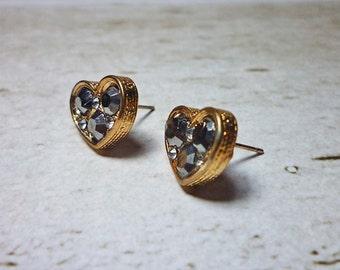 Heart Shaped Stud Earrings