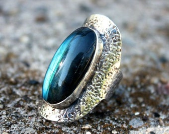 A Dream within a Dream Labradorite Ring