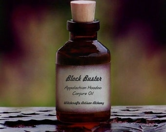 BLOCK BUSTER Artisan Appalachian Folk Hoodoo Conjure Oil for Rituals Involving Removing Blockages, Opening Up Paths, Overcoming Obstacles