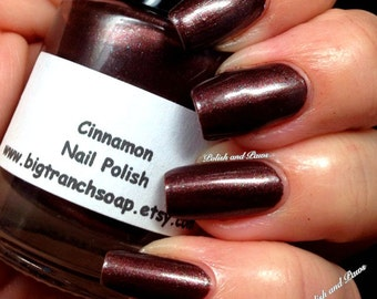 Nail Polish - Micro Glitters - Brown, Red, Hand Blended Nail Lacquer - 0.5 oz Full Sized Bottle