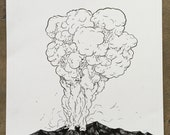 Mountain Signal Original Drawing
