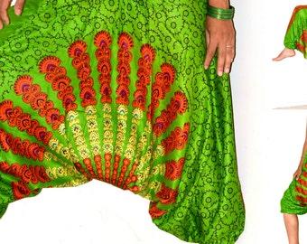 Harem pants/Mandala Harem /Hippie Pants/Gypsy Pants/Romper/Yoga pant/Bohemian pants/wide leg pants/Chakra harem Pants/boho chic - LAST ONE