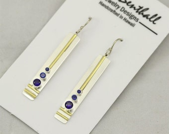 3 Stone Sequence Earring 14K (Sapphire) made to order