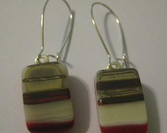 Southwest Desert Sand Fused Glass Earrings
