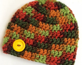 Newborn girl 0-3 months baby hat beanie autumn fall theme camo boy infant hat baby photo prop Ready To Ship