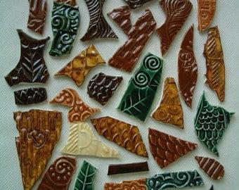 31F - Earth Tones GRAFFITI TILES - Ceramic Mosaic Tiles