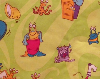 Childrens Print by Westminster Fibers Boogie Monsters 1 1/8 yard x 45 inches SALE