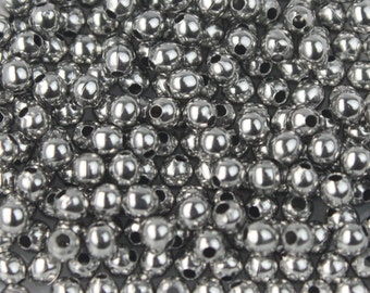 NEW New 100 pcs of Stainless Steel Round Spacer Beads - 2.4mm