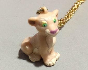 1994 Nala Lion King Plastic Pendant - Tan