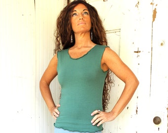 Organic Basic Tank Top - Many Colors Available - Organic Cotton Blend