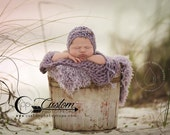 CLEARANCE - Lilac Frost Purple BaSkeT StuFFeR Fur Photography Props, Faux FUR Baby Photo Props, Soft, Baby Whisperer, Girl Props