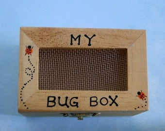 DIY science kit-My bug box-wooden toy box-bug collecting-camping-outdoor car trip-adventure game-toy-children game-entomology-small keepsake