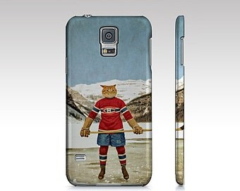 Samsung Galaxy S5 S6 S7 S8 iPhone 7 case iPhone 6/6S Montreal Canadiens Galaxy S5 Habs Cat Pet Hockey Cellphone Case - Montreal Catadiens