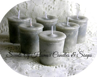 CAMPFIRE Scented Votive Candles - Handmade Unique Mottled Paraffin Votive Candle Set Of 6 - Gift Boxed - Highly Scented - Hand Poured In USA