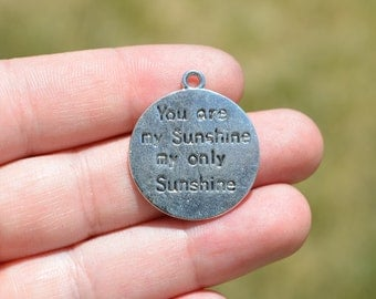1 Silver  You are My Sunshine Charms SC2685