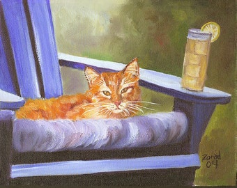 Orange Tabby and Lemonade by Mary Jo Zorad