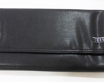 Swank glove compartment organizer leather look three folds 1990