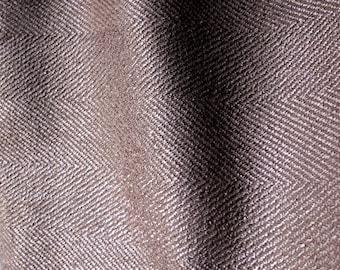 Upholstery Fabric Yardage - Mocha Brown Herringbone Jacquard - Lee Jofa - 2 yards plus - MCM Furniture - Classic Pillow Chair Crafting