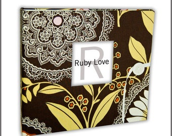 BABY BOOK | Amy Butler Lotus Lacework Baby Book | Ruby Love Baby Memory Book