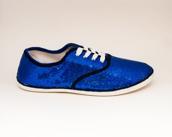 Sequin CVO Brilliant Sapphire Blue Canvas Sneakers Tennis Shoes