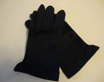 vintage navy blue gloves