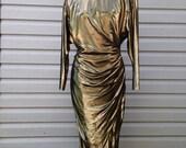Vintage Gold Metallic Dress