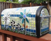 Whimsical Flower Power Architectural Mailbox