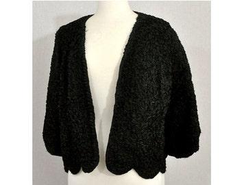 1950s Black Ribbon Vintage Jacket from The Penguin Fur Shop