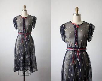 30s dress / sheer renaissance dress