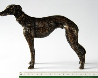 Brass Greyhound Sculpture