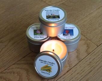 IOWA  SAMPLER (four 2-oz soy candles)