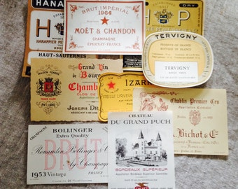 Antique French Wine Labels