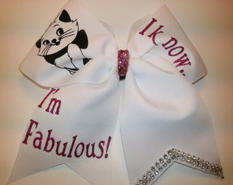 I Know i'm Fabulous!  Marie Cat Cheer Hair Bow