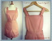 Swell Dame 1950s style women high waist overalls shorts ANY color ALL sizes