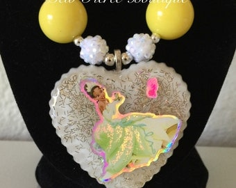 Frog Princess Chunky Necklace - Bubblegum Necklace - Photo Prop - Dress Up
