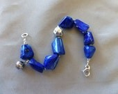 Lapis Lazuli and Fine Thai Silver Bracelet