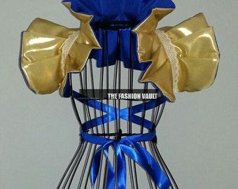 Gold Royal Wonder Woman Burlesque Collar Shrug Wrap Cosplay