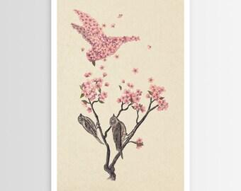 Terry Fan's Blossom Bird POSTER