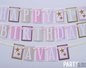 Twinkle Little Star Birthday Party Banner Decorations Fully Assembled