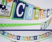 Mod Jungle Baby Shower Banner Decorations Fully Assembled