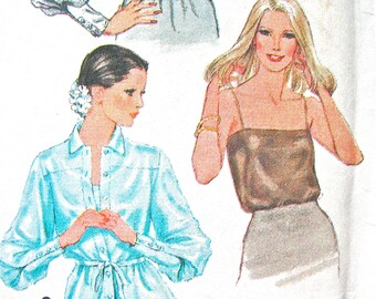 Uncut 1970s Simplicity 9215 Misses' Misses set of Blouses and Camisole  Vintage Sewing Pattern  Bust 36
