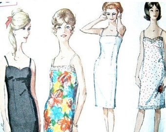 Vintage 1960s Simplicity 5729 Slip Sewing Pattern from the 1960s Bust 34
