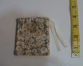 Small Button Drawstring Pouch