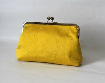 Wedding Clutch - Bridal Clutch - Wedding Purse - Bridesmaids Clutch - Mustard Yellow Clutch - Bridesmaid Gifts - Marion Clutch