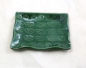 Smudge Holder King Frog  Handmade Raku Pottery