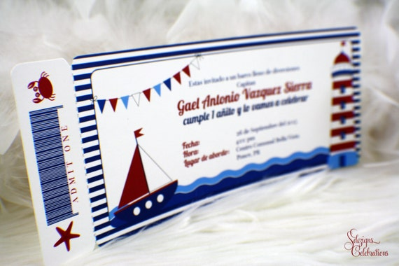 Nautical boarding pass invitations birthday boarding pass boat il570xn filmwisefo